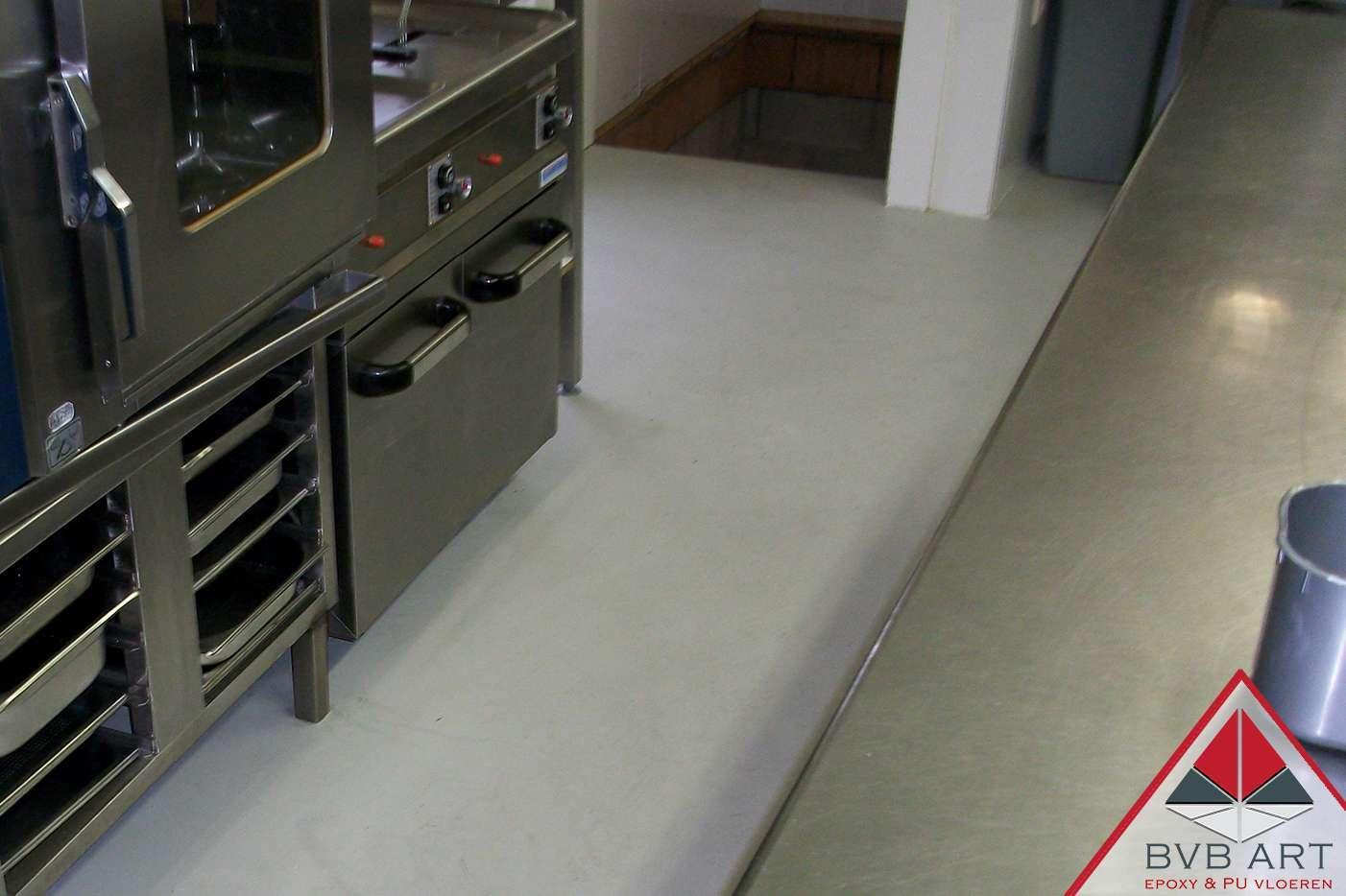 Industriële Epoxy Gietvloer Keuken
